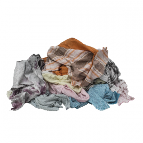 Putzlappen aus Flanellbettwäsche bunt