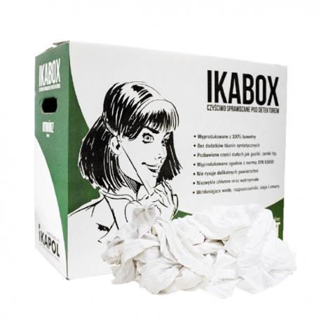 Putzlappen aus Trikot weiß Ikabox 8035