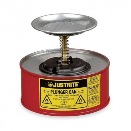 Sicherheitsbehälter mit Kolbenstange 1 Liter