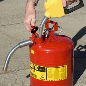 Sicherheitsbehälter für entzündbare Stoffe, 19 Liter (mit Schlauch)