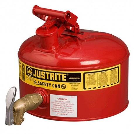 Sicherheitsbehälter für entzündbare Stoffe, 9,5 Liter (mit Hahn)