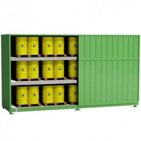 Dreistufiger Container