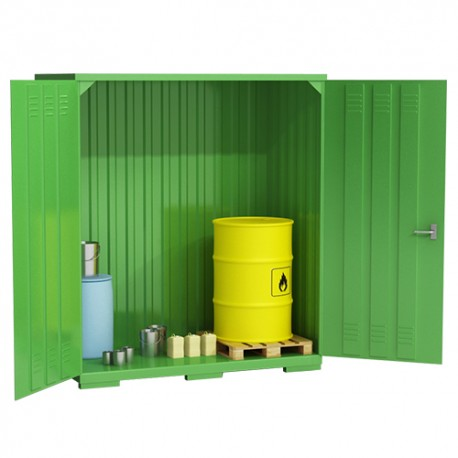 Container zur Lagerung von gefährlichen Flüssigkeiten