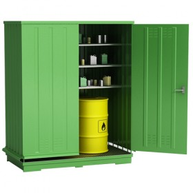 Container zur Lagerung von reaktiven Gefahrstoffen
